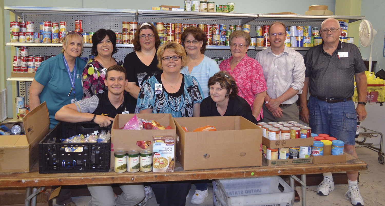HCCH donates to the Harrison County Food Pantry